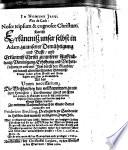 Vox de coelo  Nosce teipsum   cognosce Christum  Das ist  Erk  ntniss unser selbst in Adam  zu unserer Dem  htigung und Busse