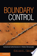 Boundary Control First Step In Diffusing Democracy Throughout