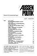 Aussenpolitik
