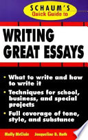 Schaum s Quick Guide to Writing Great Essays