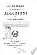 Addizioni alle Mie prigioni di Silvio Pellico di Piero Maroncelli