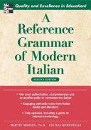 A Reference Grammar of Modern Italian