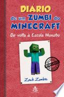 Di Rio De Um Zumbi Do Minecraft De Volta Escola Monstro