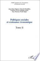 POLITIQUES SOCIALES ET CROISSANCE ÉCONOMIQUE