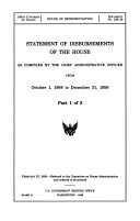 Statement of Disbursements of the House