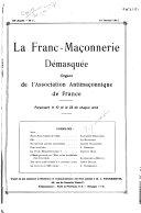 Book La Franc-maçonnerie démasquée ...