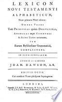 Lexicon Novi Testamenti alphabeticum