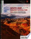 Badlands National Park  N P    South Unit General Management Plan