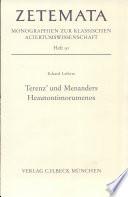 Terenz' und Menanders Heautontimorumenos