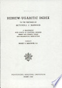 Herbre ugraritic Index