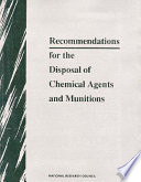 Recommendations for the Disposal of Chemical Agents and Munitions