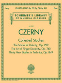 Czerny  Collected Studies   Op  299  Op  740  Op  849