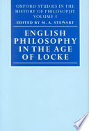 English Philosophy in the Age of Locke