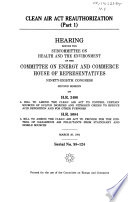 Clean Air Act Reauthorization