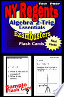 NY Regents Algebra 2 Trigonometry Test Prep Review  Exambusters Flashcards