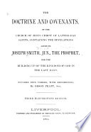 The Doctrine And Covenants Of The Church Of Jesus Christ Of Jesus Christ Of Latter Day Saints