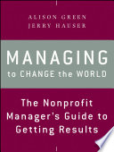 Managing to Change the World