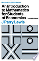 Introduction to Mathematics for Students of Economics