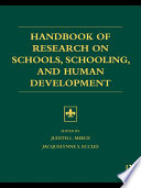 Handbook of Research on Schools  Schooling and Human Development