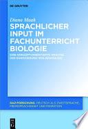 Sprachliche Merkmale des fachlichen Inputs im Fachunterricht Biologie