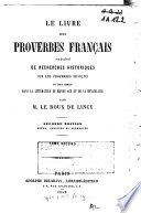 Le livre des proverbes français