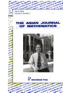 The Asian Journal of Mathematics