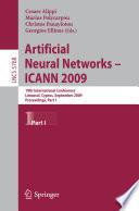Artificial Neural Networks – ICANN 2009