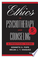 Ethics In Psychotherapy And Counseling