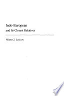 Indo European and its closest relatives  2  Lexicon