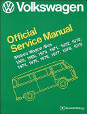 Volkswagen Station Wagon Bus Official Service Manual  Type 2