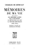 Mémoires de ma vie, tome 1 à 4