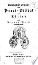Diplomatische Geschichte des Peters-Stiftes zu Norten