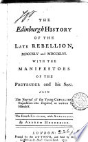 The Edinburgh history of the late rebellion