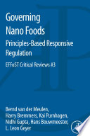 Governing Nano Foods  Principles Based Responsive Regulation