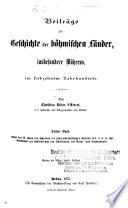 Mährisch-Schlesische Gesellschaft zur Beförderung des Ackerbaues, der Natur- und Landeskunde, Brünn-- Historisch-Statistische Sektion
