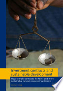 Investment Contracts and Sustainable Development