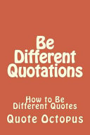 Be Different Quotations