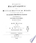 Allgemeine Encyclopädie der Wissenschaften und Künste in alphabetischer Folge