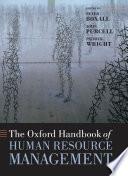 The Oxford Handbook Of Human Resource Management