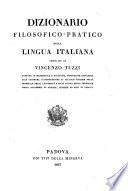 Dizionario filosofico pratico della lingua italiana compilato da Vincenzo Tuzzi