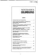 Novedades colombianas