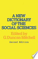 A New Dictionary of the Social Sciences, Second Edition