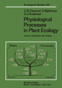Physiological Processes in Plant Ecology