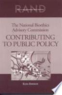 The National Bioethics Advisory Commission