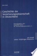 Geschichte der Versicherungswissenschaft in Deutschland