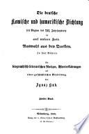 Bibliothek der deutschen komischen und humoristischen Literatur seit Beginn des 16. bis Schluß des 18. Jahrhunderts
