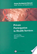 Private Participation in Health Services