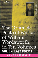 download ebook the complete poetical works of william wordsworth, in ten volumes - vol. ix pdf epub