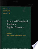 Structural-functional Studies in English Grammar