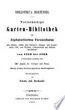Bibliotheca Hortensis